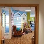 Beach hut themed interior at Hemel Hemstead office relocation