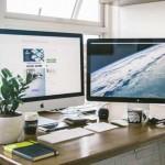plants at a desktop