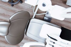 View of dental chair from above