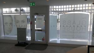 The Glasshouse aesthetic clinic inside shopfront