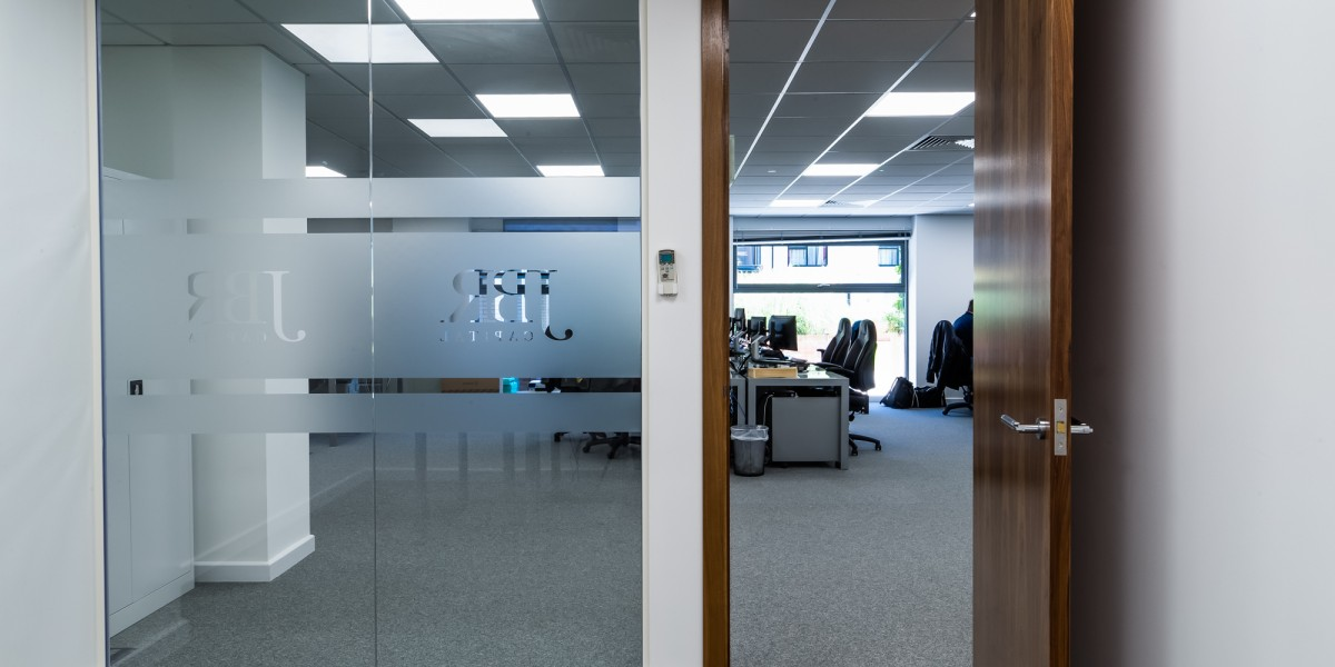 View from inside an office at JBR Capital, Finchley Road, London
