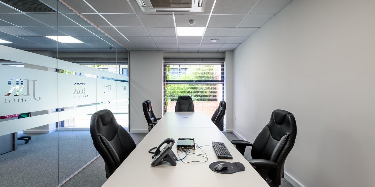 Inside view of office at JBR Capital, Finchley Road, London