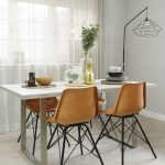 Stylish dining area in Cornwall Works apartment