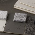 Stone effect Corian samples