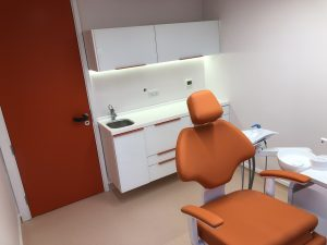Colourful dentist's surgery