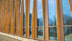 sustainably built wooden school