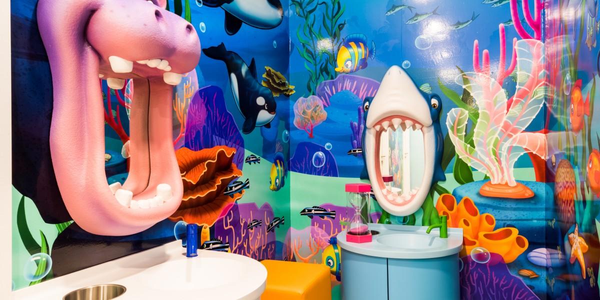 Happy Kids Dental brushing station