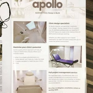 Apollo feature in March 2019 Aesthetic Medicine