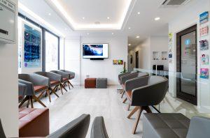 Reception area at Belur Dental, Aylesbury