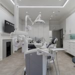 Dental surgery with dentists chair
