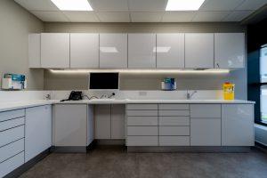 Decontamination room at Angle House clinic
