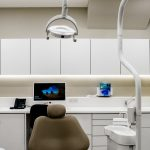 Close up of dentist's chair and equipment at Angle House, Harrow