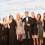 The team from Happy Kids Dental celebrating their award win at the 2019 Private Dentistry Awards with Stephanie Creevy from Apollo Interiors