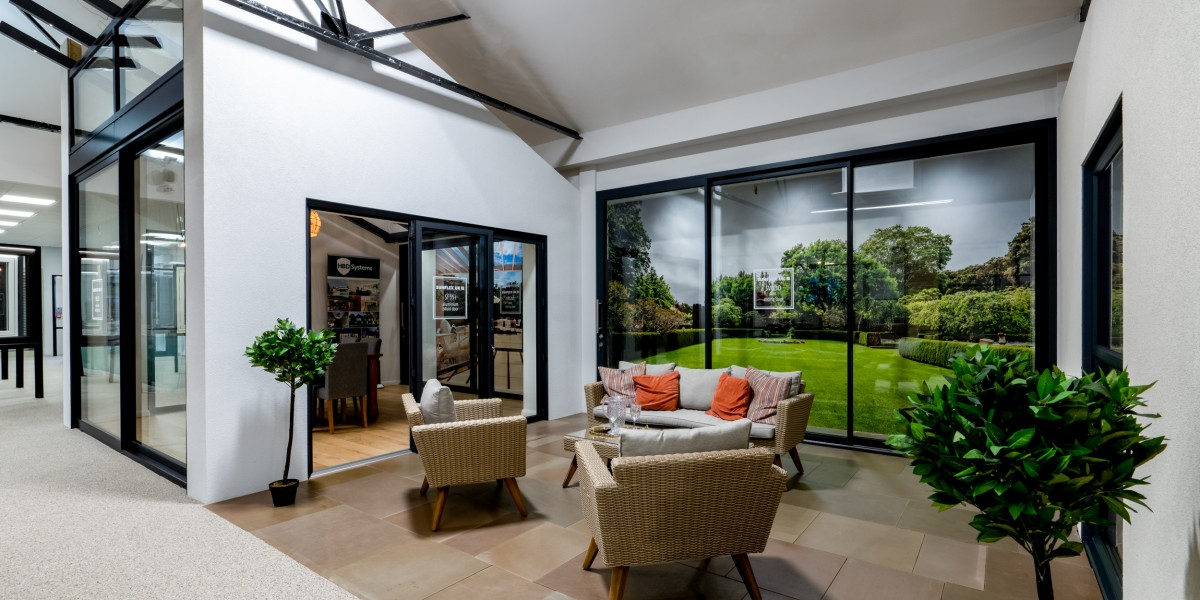 Garden set featuring patio doors at HBD Systems showroom