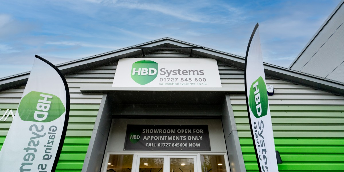 Exterior view of entrance to HBD Systems showroom