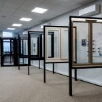 Window frame options on display in HBD Systems showroom