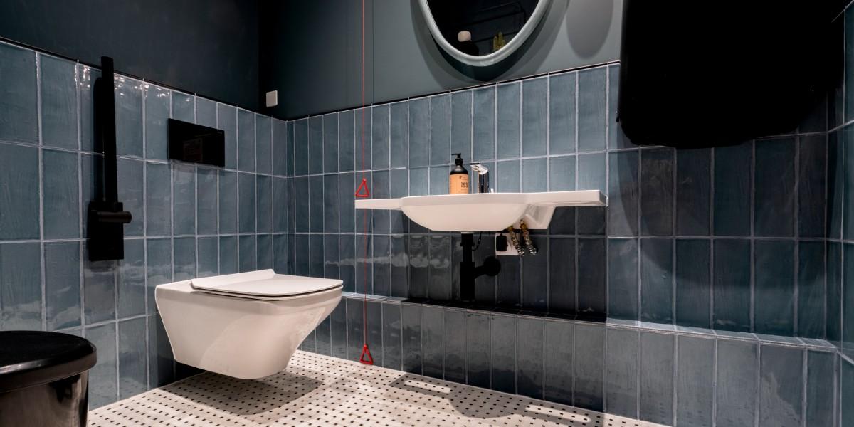 Stylish WC and basin