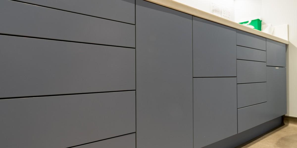 Dark grey cabinetry