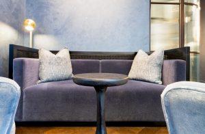 Dark grey velvet sofa