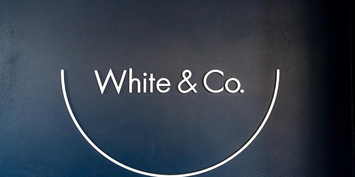 White & Co logo signage
