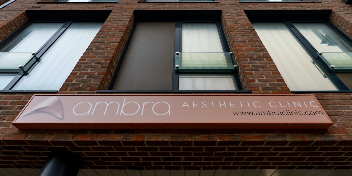Exterior signage at Ambra Aesthetic Clinic