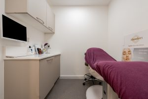 Interior of treatment room at at Ambra Aesthetic Clinic