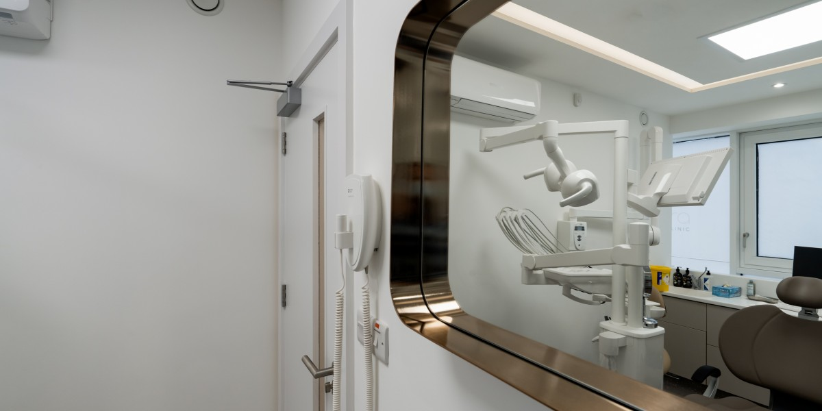 Window into treatment room at Ambra Aesthetic Clinic