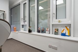 Treatment room window at Ambra Aesthetic Clinic
