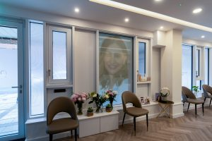 Waiting area at Ambra Aesthetic Clinic