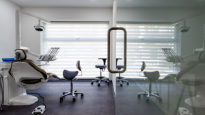 Dental surgery with large window to let in light